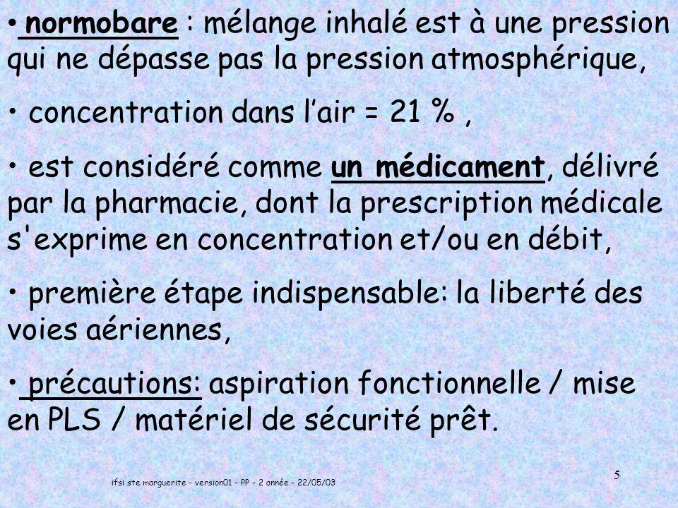 ifsi ste marguerite - version01 - PP - 2 année - 22/05/03 36 CALCUL AUTONOMIE D UNE BOUTEILLE D OXYGENE UN DEBIT S EXPRIME EN LITRE PAR MINUTE EXEMPLE 1 0 L/MN CE QUI VEUT DIRE: EN 1 MINUTE ON CONSOMME 10 LITRES D OXYGENE
