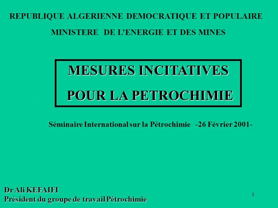 24 MESURES INCITATIVES POUR LA PETROCHIMIE DE BASE Analyse comparative (PC v.s GNL)