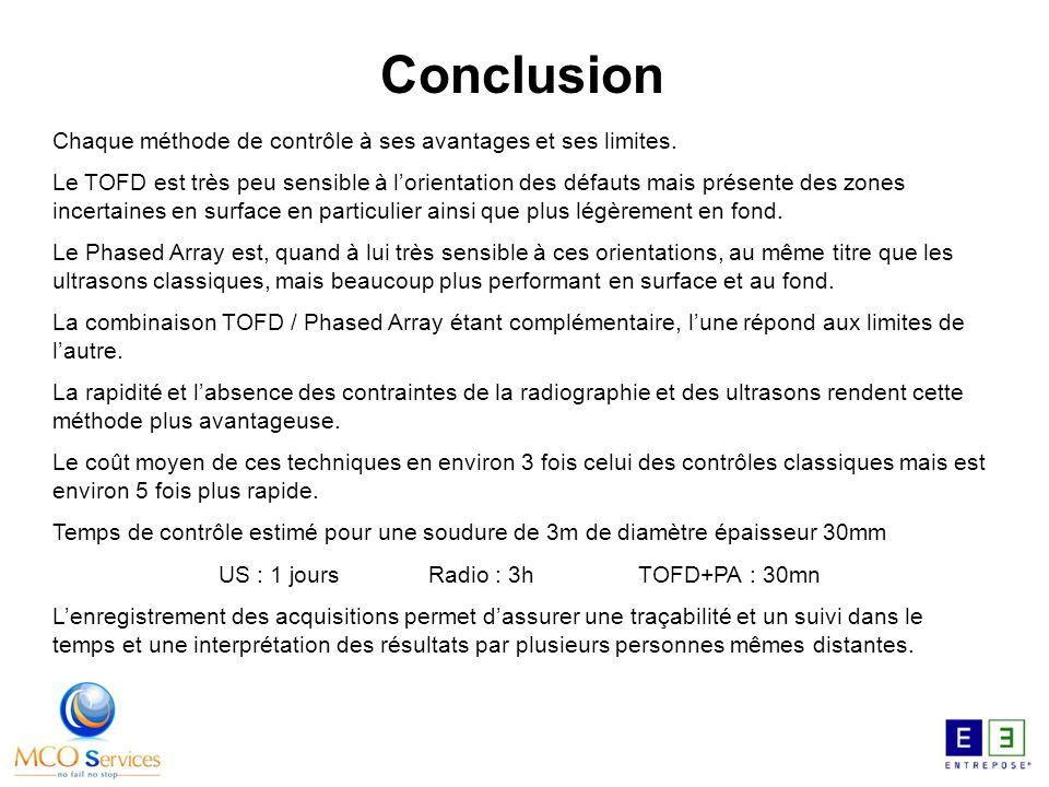 Conclusion Chaque méthode de contrôle à ses avantages et ses limites.