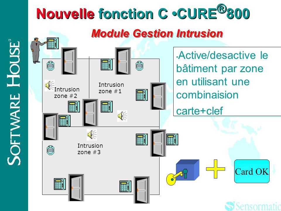 ® Nouvelle fonction C CURE ® 800 base de donnée partitionnée A P C A P C A P C A P C Parties communes Locataire 2 Locataire 1 Oper. 2 Oper. 1 ADMINIST