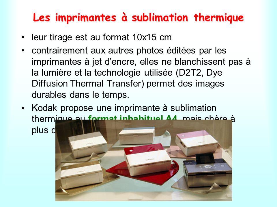 Les exemples dimprimantes à sublimation thermique