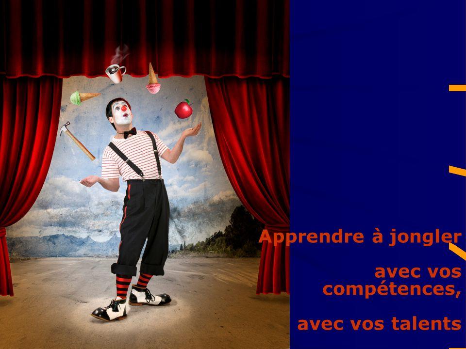 Apprendre à jongler avec vos compétences, avec vos talents
