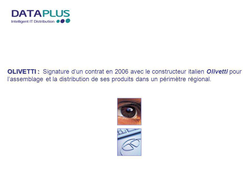 OLIVETTI : OLIVETTI : Signature dun contrat en 2006 avec le constructeur italien Olivetti pour lassemblage et la distribution de ses produits dans un
