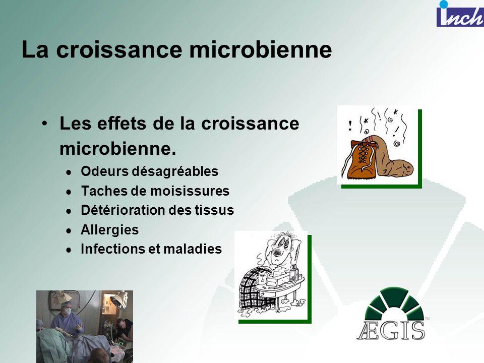Les effets de la croissance microbienne. Odeurs désagréables Taches de moisissures Détérioration des tissus Allergies Infections et maladies La croiss