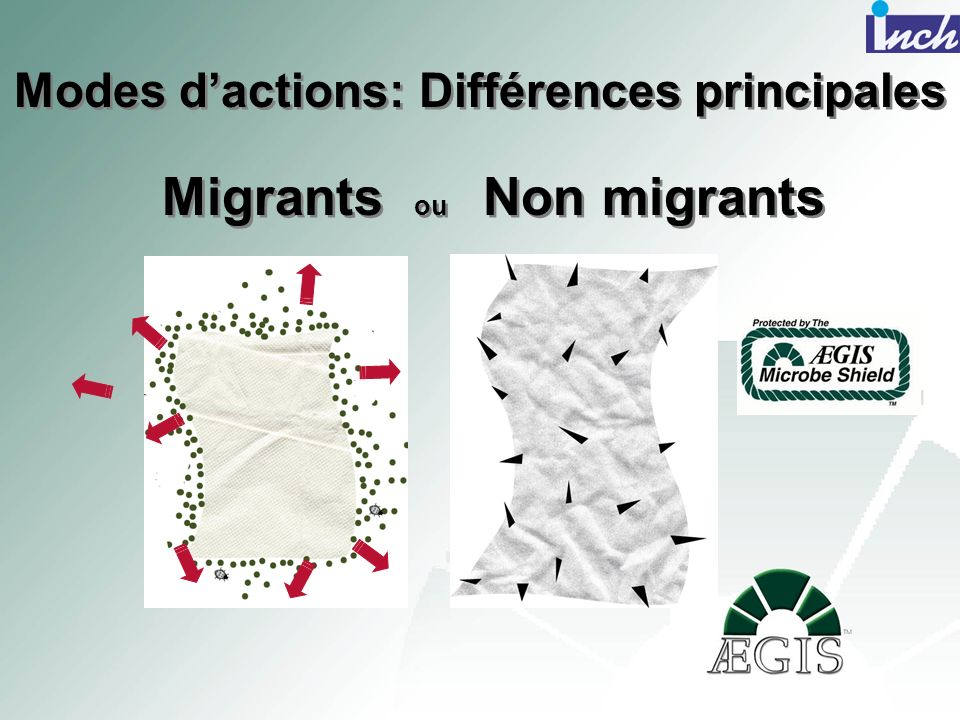 Migrants ou Non migrants Modes dactions: Différences principales