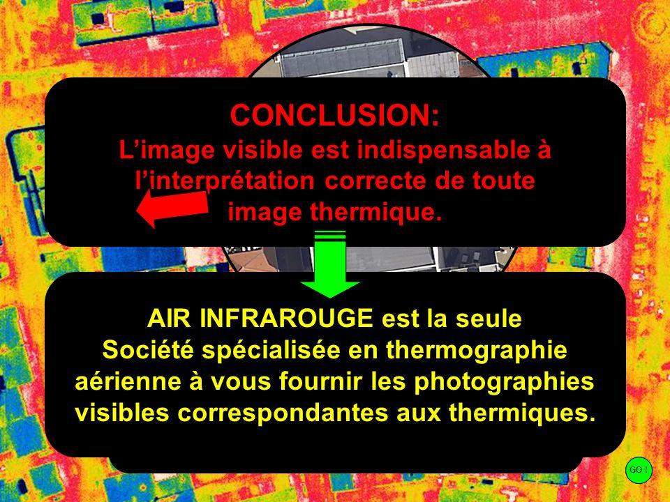 Copyright Air Infrarouge LIMAGE VISIBLE COMME AIDE A LINTERPRETATION Cette toiture est manifestement beaucoup plus froide que les toitures voisines. L