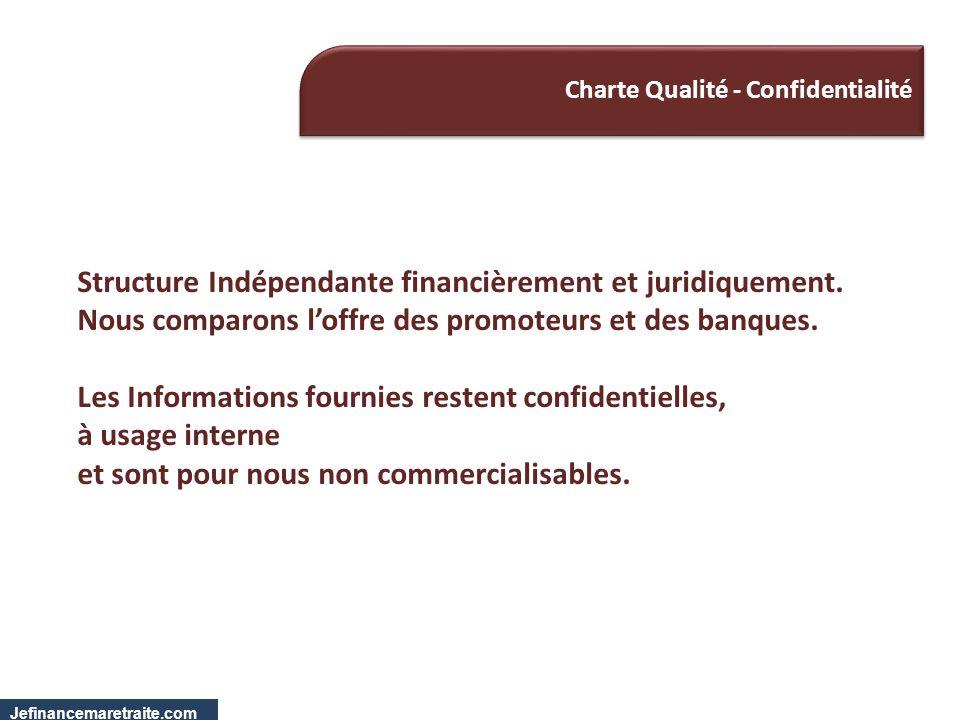 Charte Qualité - Confidentialité Structure Indépendante financièrement et juridiquement. Nous comparons loffre des promoteurs et des banques. Les Info