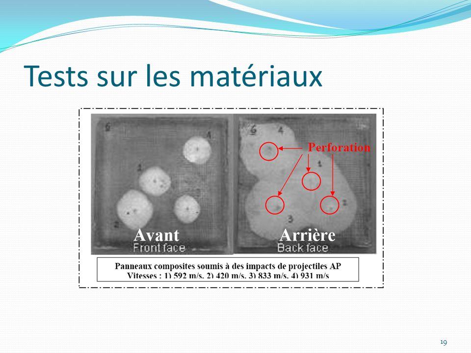 Tests sur les matériaux 19