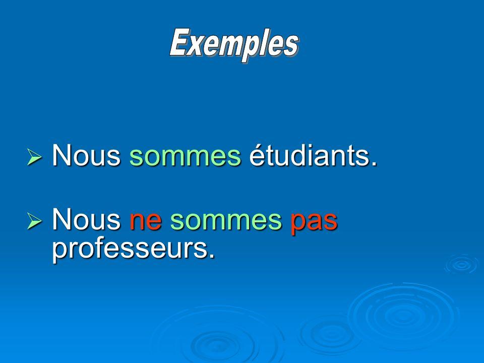 La négation en français When the verb starts with a vowel or h … When the verb starts with a vowel or h … … ne changes to n… … ne changes to n…