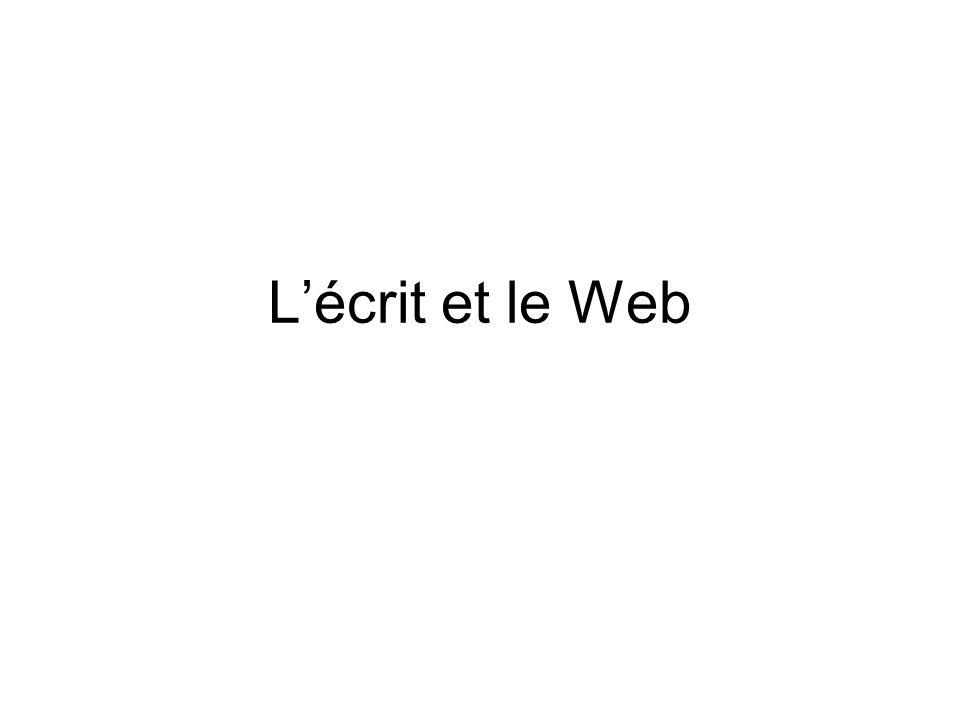 Lécrit et le Web