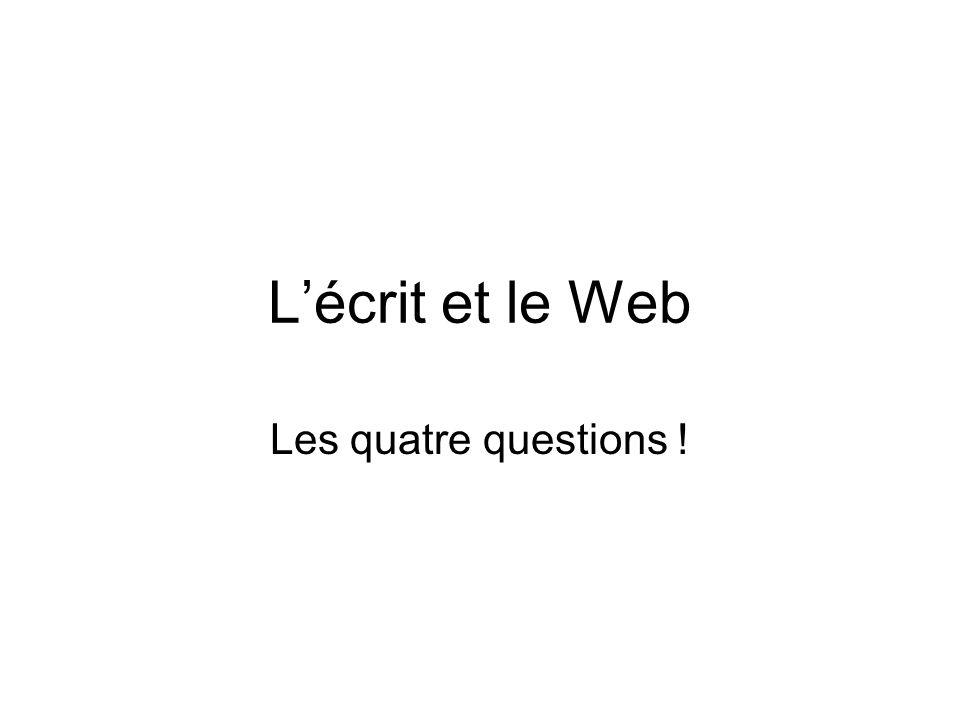 Le web Quand ?