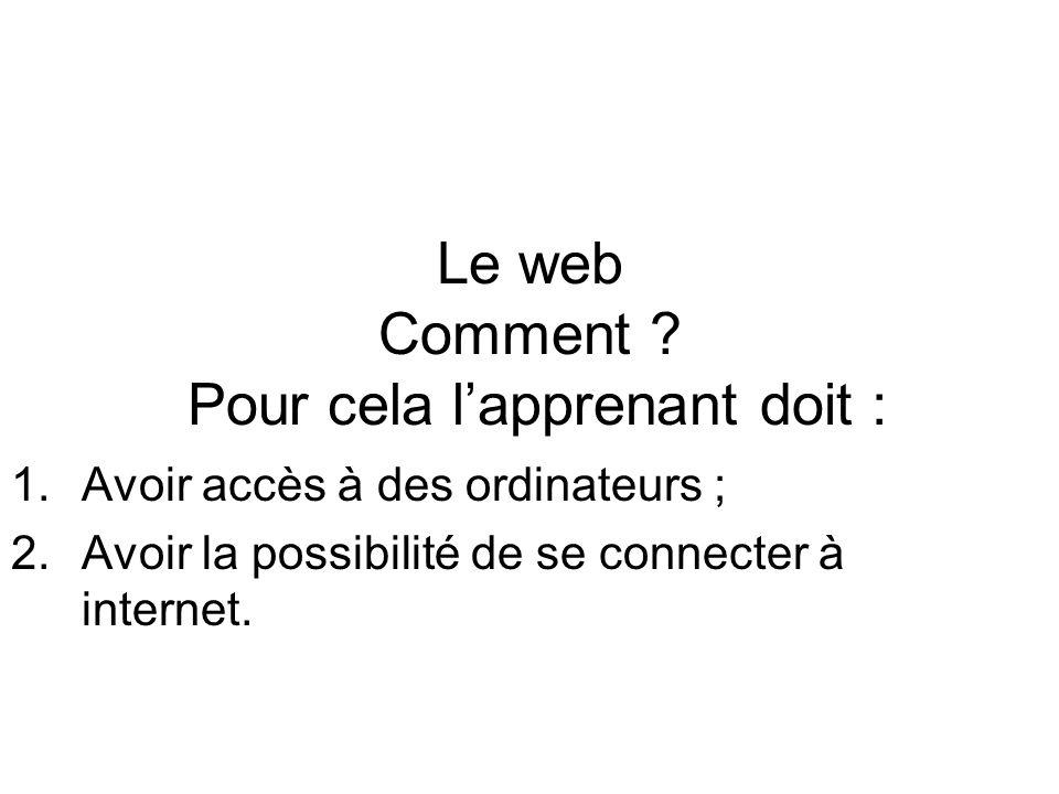 Le web Comment .