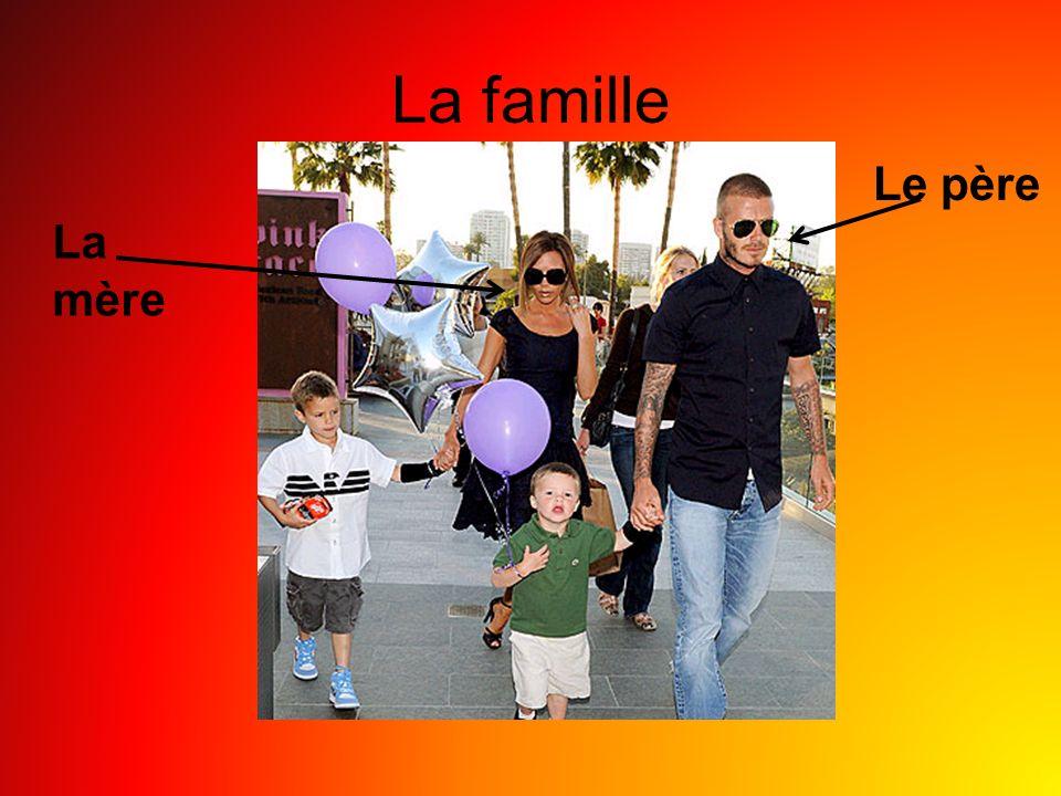 La famille La mère Le père