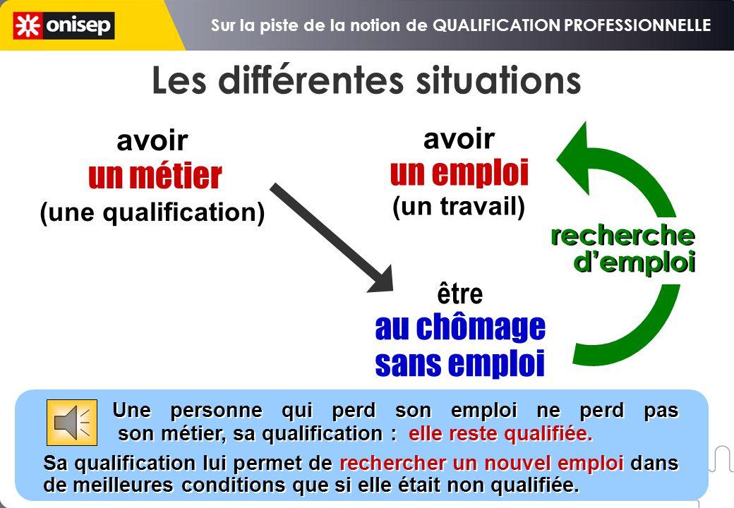 on peut avoir un métier et travailler on peut avoir un métier et être au chômage, par exemple à la suite dun licenciement économique (fermeture ou dél