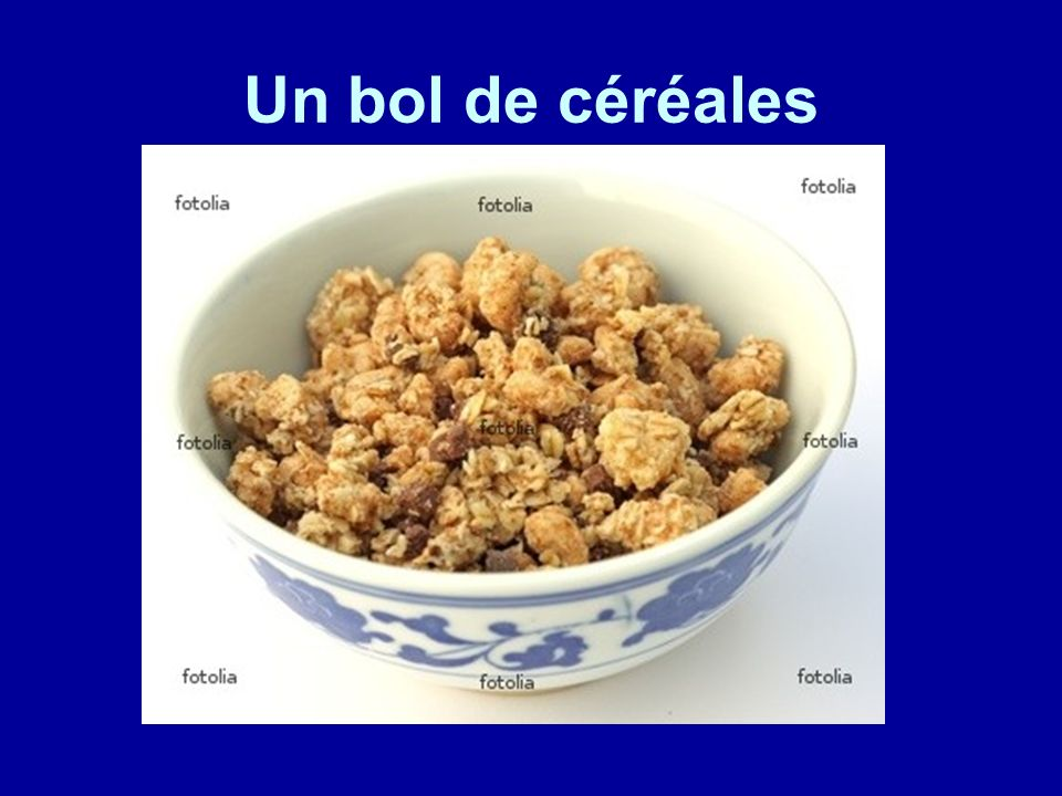 Un bol de céréales