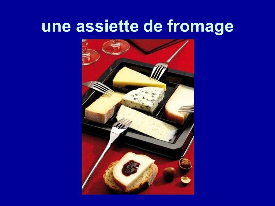 une assiette de fromage