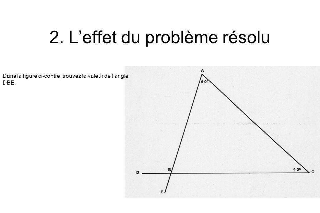 2. Leffet du problème résolu Dans la figure ci-contre, trouvez la valeur de langle DBE.
