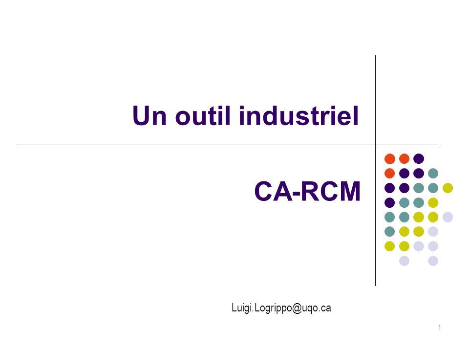 Un outil industriel CA-RCM 1 Luigi.Logrippo@uqo.ca