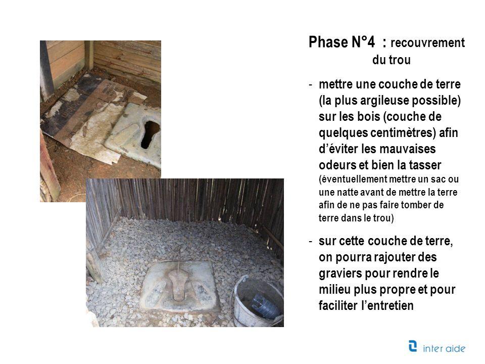 Phase N°5 : Construction de la cabane Quelques éléments qui pourront vous aider à entretenir votre latrine: - Construire une cabane où lon peut se tenir debout à lintérieur.