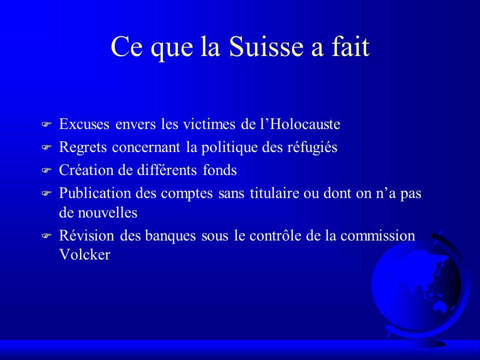Phrase de Churchill juste après la guerre « De tous les Etats neutres, cest la Suisse qui mérite le plus dêtre distinguée.