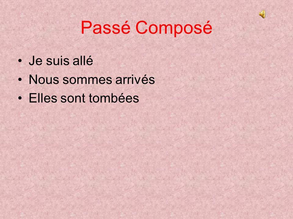 Passé Composé Jai écouté- I listened Il a fini- He finished Tu as répondu.