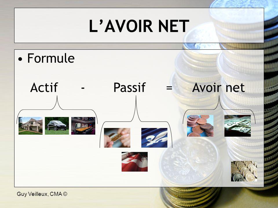 Guy Veilleux, CMA © LAVOIR NET Formule ActifPassifAvoir net-=