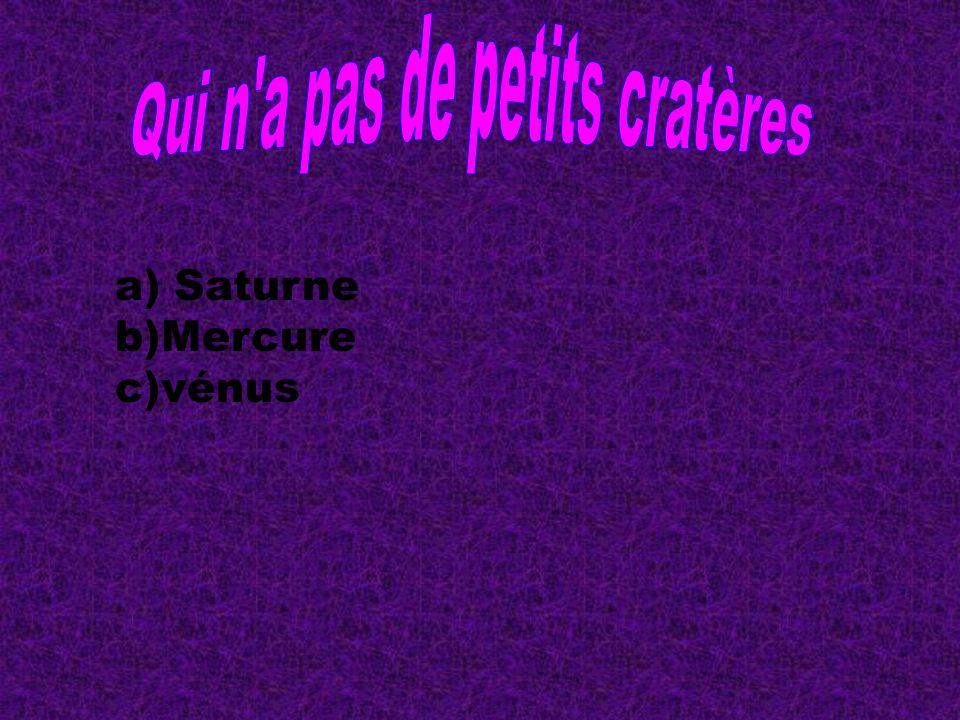 a) Saturne b)Mercure c)vénus