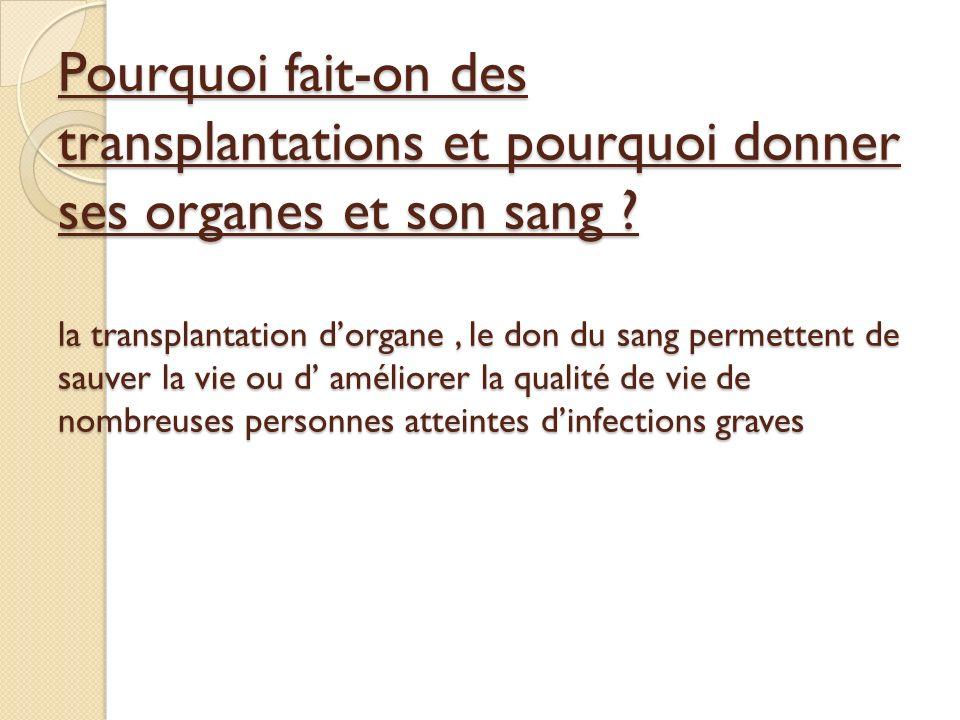 Quest-ce quune transplantation .