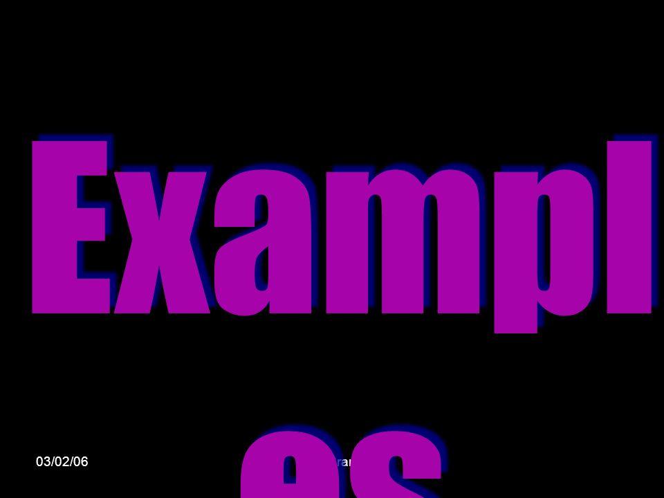 03/02/06Miss Cranie Exampl es
