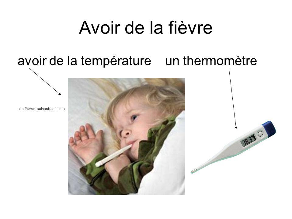 Avoir de la fièvre avoir de la température un thermomètre http://www.maisonfutee.com