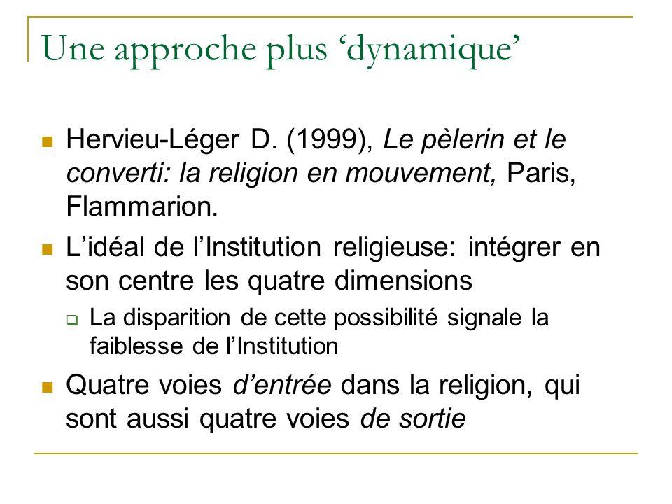 Une approche plus dynamique Hervieu-Léger D.