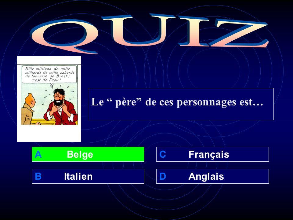 A Belge BItalienDAnglais CFrançais Le père de ces personnages est…