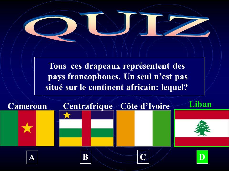 Tous ces drapeaux représentent des pays francophones.