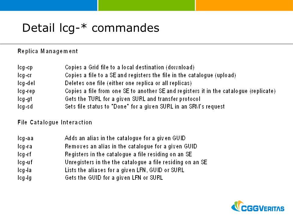 Detail lcg-* commandes