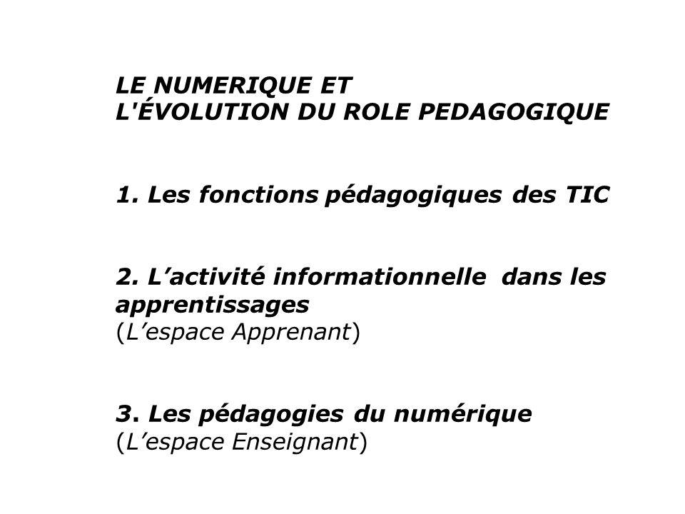 1.Les fonctions pédagogiques des TIC 1.1.