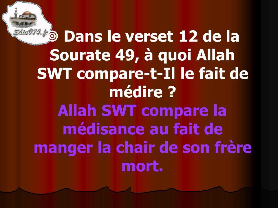 Allah SWT compare la médisance au fait de manger la chair de son frère mort.