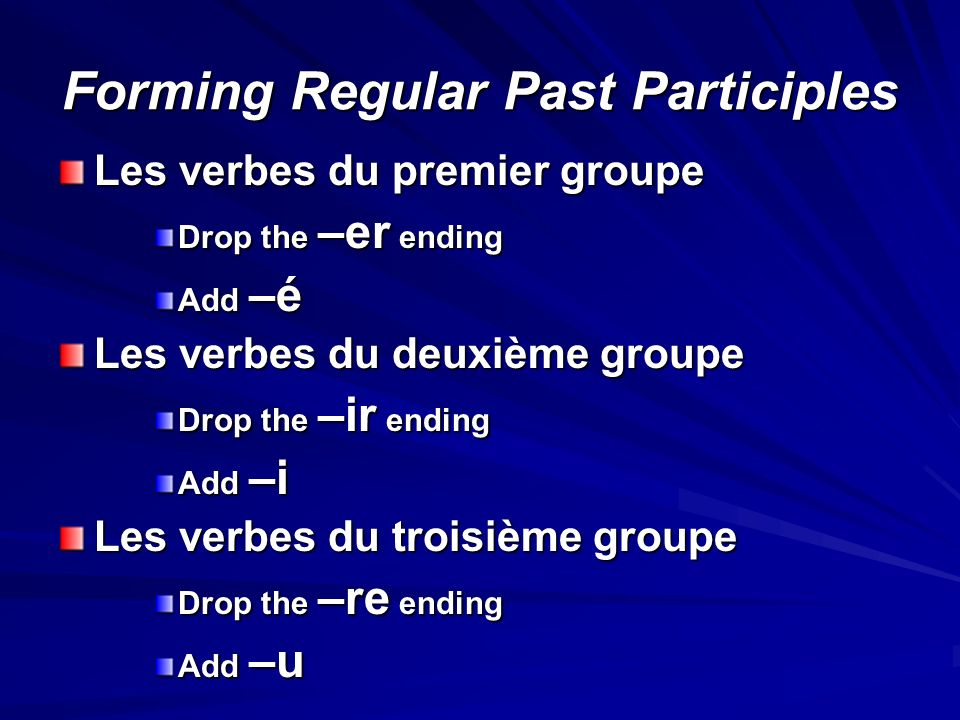What is a Past Participle. A past participle is a verb part that cannot stand alone as a verb.