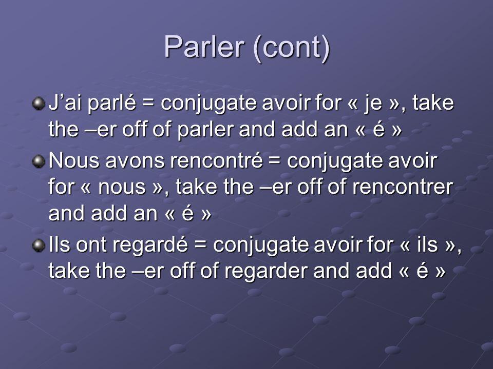 Les verbes en _____ Vous choisissez vos classes pour lannee prochaine Vous avez choisi vos classe pour lanne prochaine.