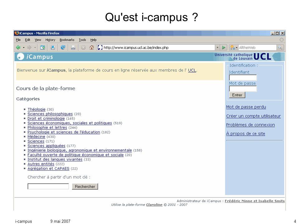 9 mai 2007i-campus4 Qu est i-campus