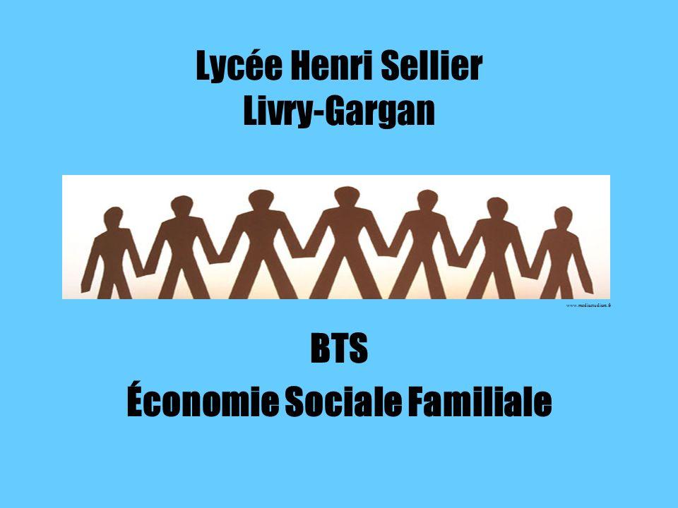 Lycée Henri Sellier Livry-Gargan BTS Économie Sociale Familiale www.mediaetudiant.fr