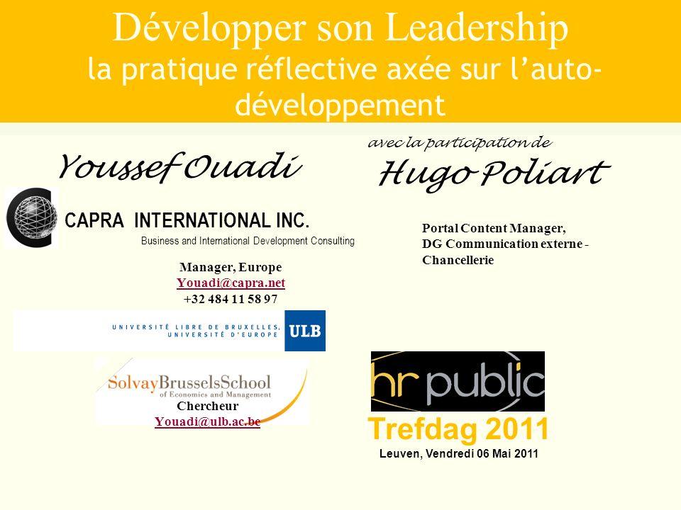 1 Développer son Leadership la pratique réflective axée sur lauto- développement CAPRA INTERNATIONAL INC. Business and International Development Consu