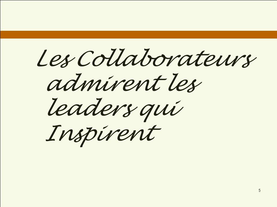 Les Collaborateurs admirent les leaders qui Inspirent 5