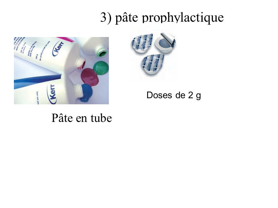 3) pâte prophylactique Doses de 2 g Pâte en tube