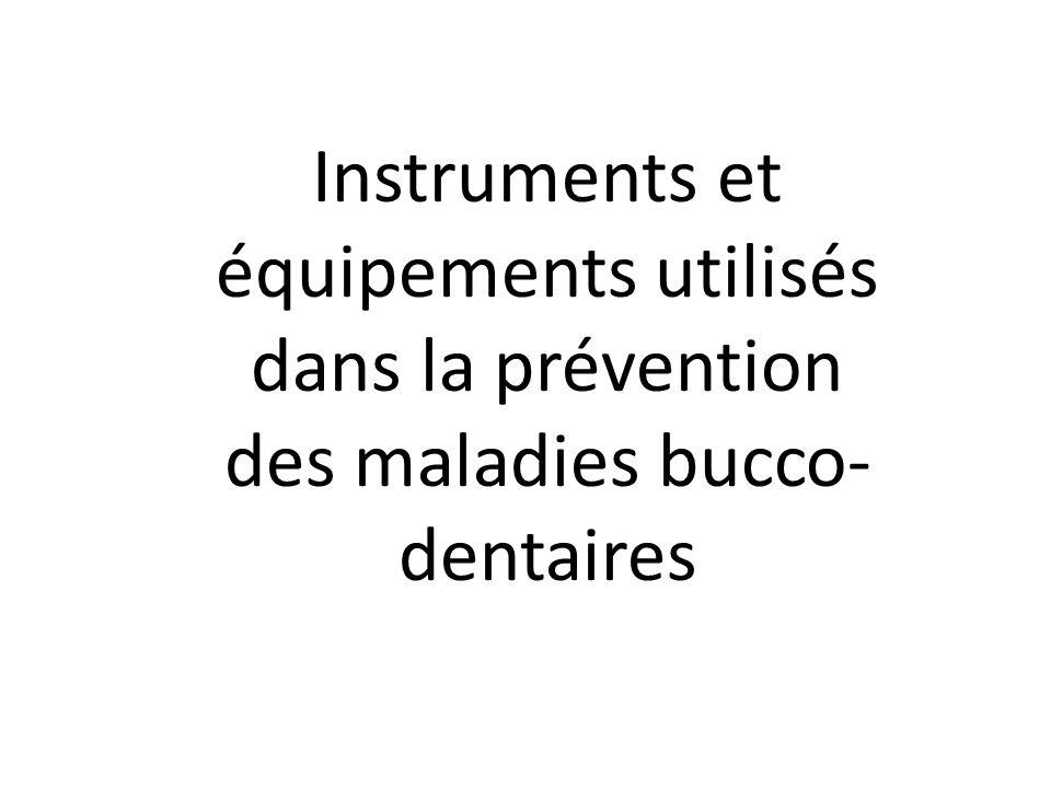 1.Le fil dental 2. Le brossettes interdental 4. Bâtonnets interdentaires 5.