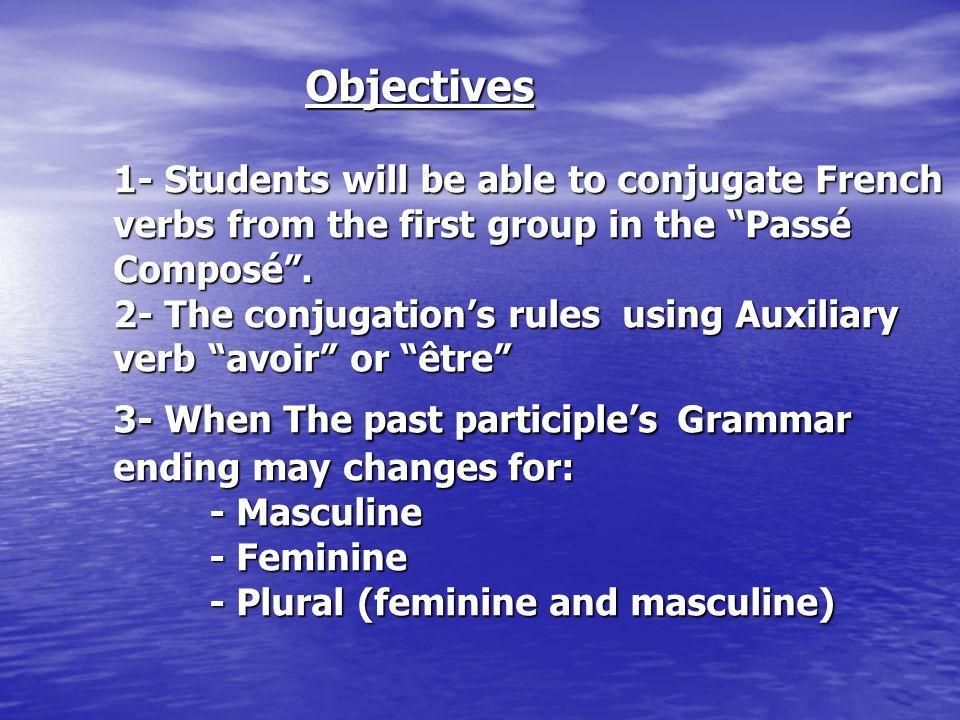 The passé composé has three possible English equivalents.