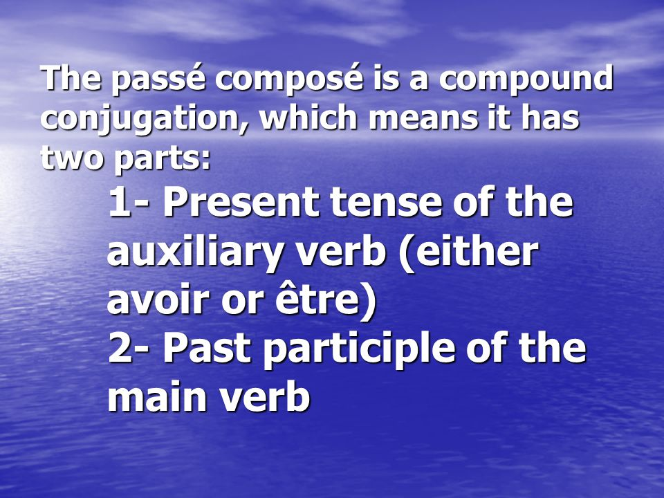 Rules: - To put a regular verb in the past participle you should remove the termination (ER), replacing it with an É.