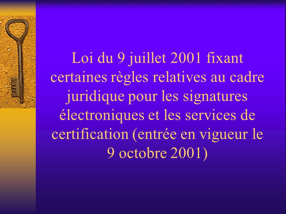 Loi du 20 octobre 2000 (4) Article 32 C.j.