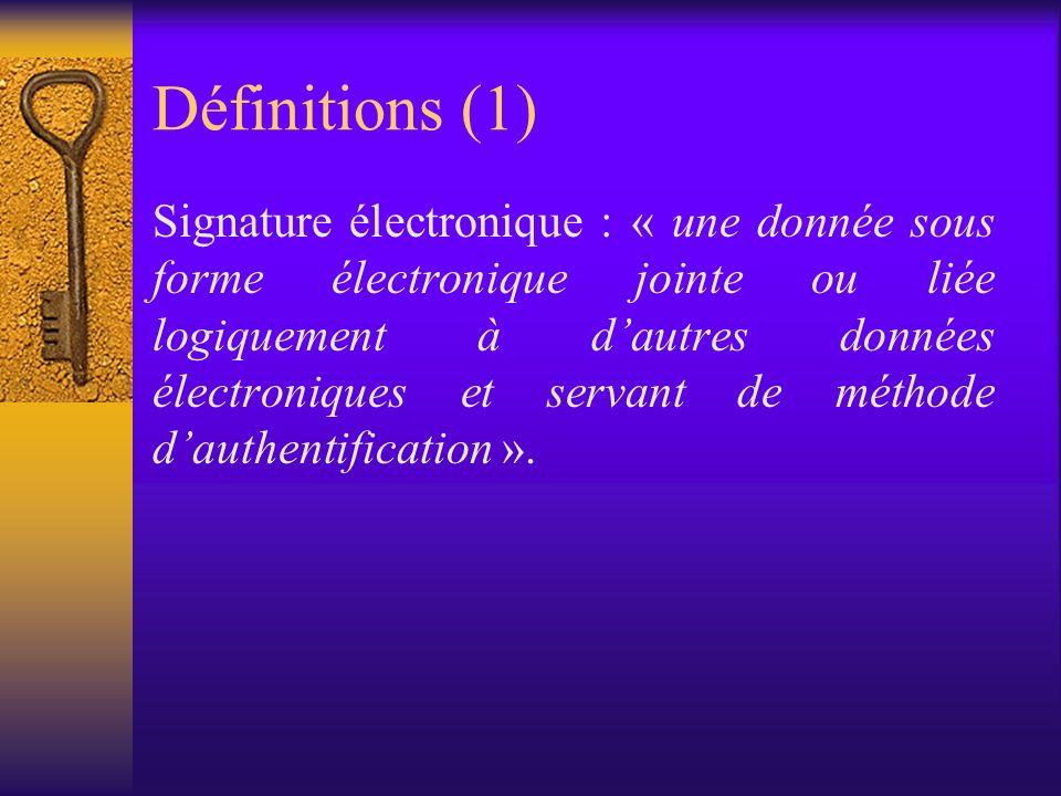Loi du 9 juillet 2001 fixant certaines règles relatives au cadre juridique pour les signatures électroniques et les services de certification (entrée en vigueur le 9 octobre 2001)