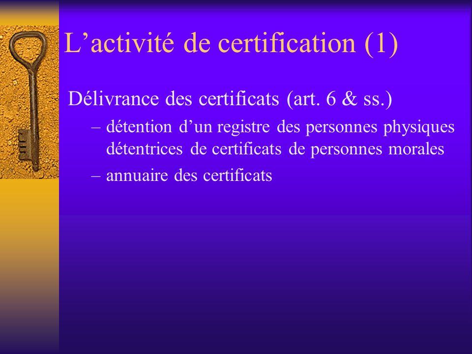 Effets juridiques (2) « sans préjudice des articles 1323 et suivant du Code civil les signatures électroniques avancées basées sur un certificat quali