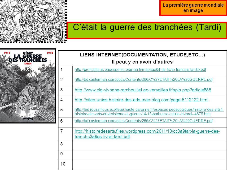 La première guerre mondiale en image Affiches de propagande (Choisissez-en 4-5) LIENS INTERNET(DOCUMENTATION, ETUDE,ETC…) Il peut y en avoir dautres 1 http://www.clg-montesquieu-evry.ac-versailles.fr/IMG/pdf/IGM_et_csqs_III-2.pdf 2 http://histoiredesarts2012.jimdo.com/3%C3%A8me/histoire-g%C3%A9ographie/1-guerre- mondiale-affiche-versez-votre-or/ 3http://www.topito.com/top-44-des-affiches-de-propagande-francaise-de-la- premiere-guerre-mondiale 4http://www.college-plaisance.net/spip.php?article349 5http://www.histoire-image.org/site/oeuvre/analyse.php?i=716 6http://pedagogie.abri- memoire.org/pdf/3eme/theme2/1_2_5a_Activite_Histoiredeguerre_3eme.pdf 7 8 9 10